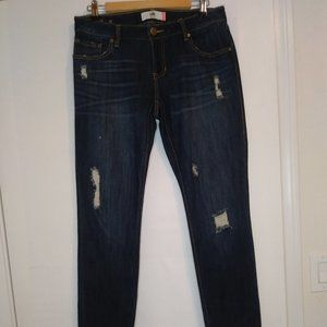 Cabi Slim Boyfriend Semi Distressed Jeans